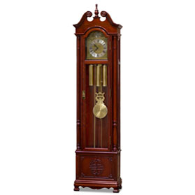 Cherry Rosewood Longevity Motif Oriental Grandfather Clock