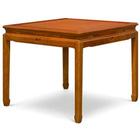 Natural Finish Rosewood Mahjong Table