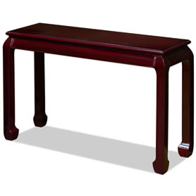 Dark Cherry Rosewood Chinese Ming Console Table