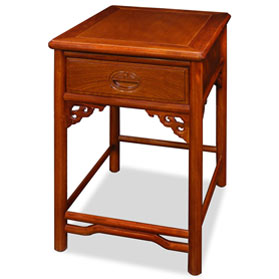 Natural Finish Rosewood Chinese Ming End Table