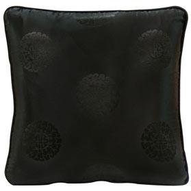 Black Chinese Silk Pillow (#14)