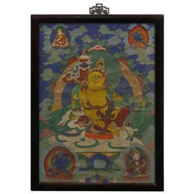 Framed Tibetan Thangka Painting