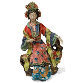 Chinese Porcelain Figurine, Yang Guifei Lady