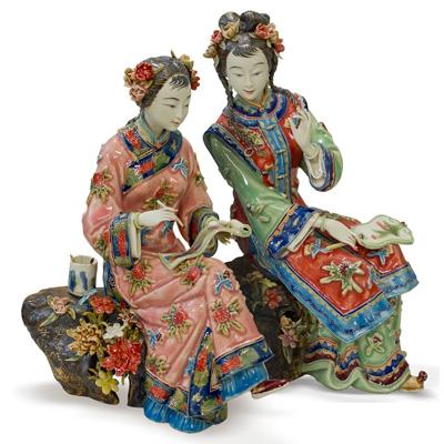 Chinese Porcelain Figurine, Ladies Set