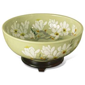 Porcelain Floral Motif Oriental Basin