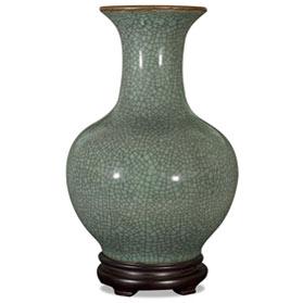 Crackle Celadon Porcelain Chinese Song Dynasty Vase