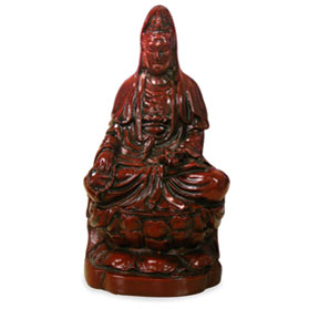 Shou Shan Shi Meditating Guanyin Asian Statue