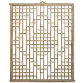 Chinese Lattice Window Panel Shutter