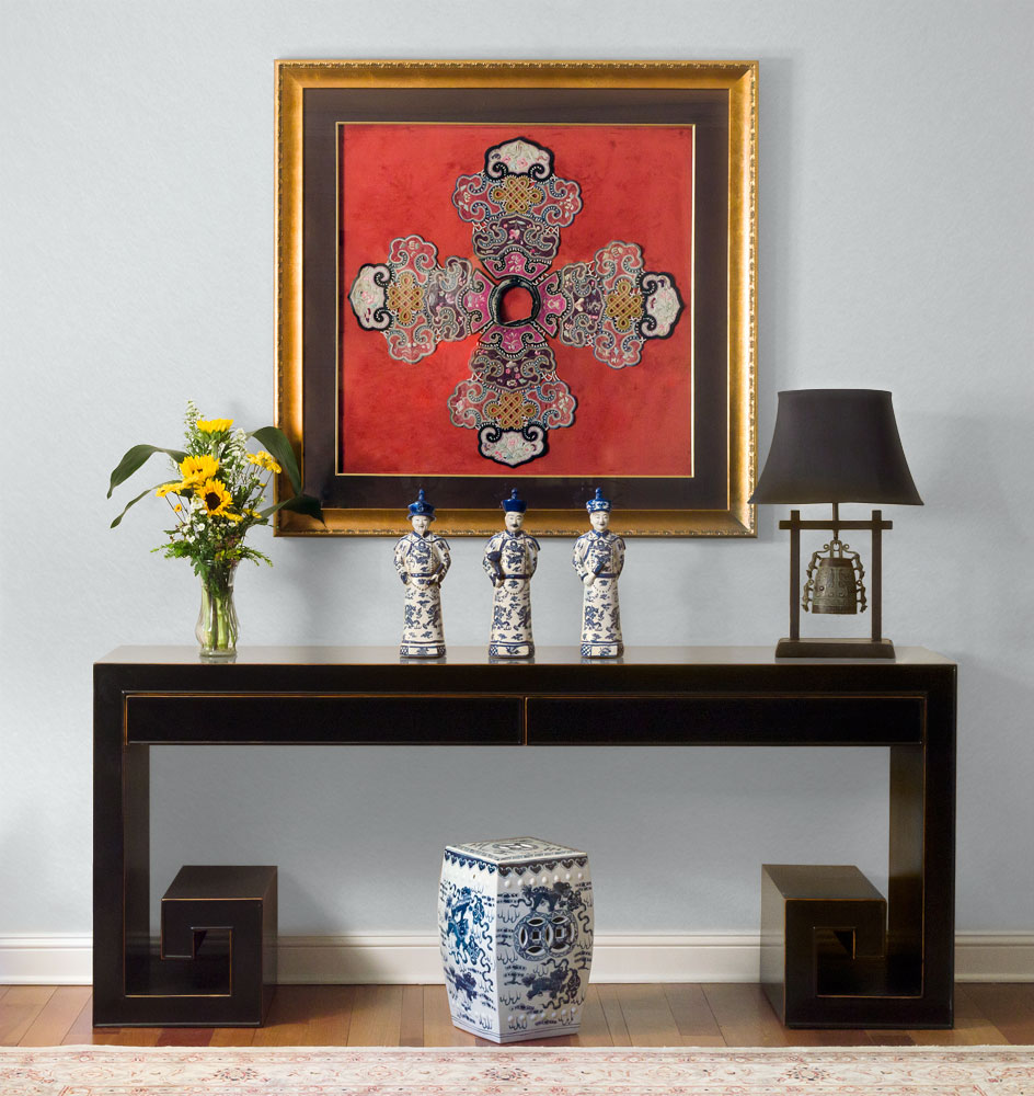 Asian Scroll Console Table