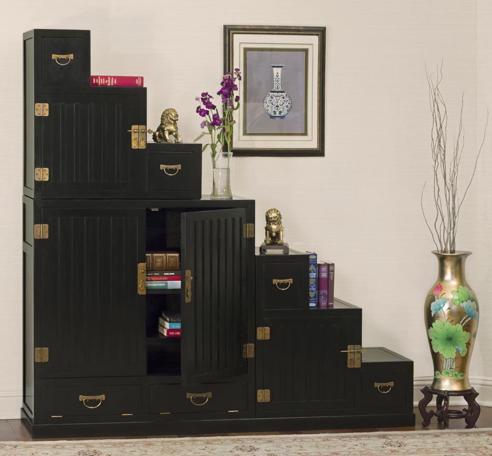 Black Tansu Cabinet