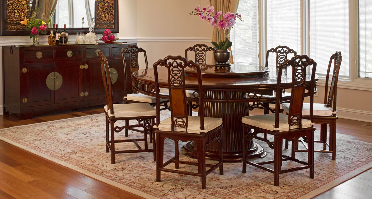 Traditional Chinese Rosewood Dining Set