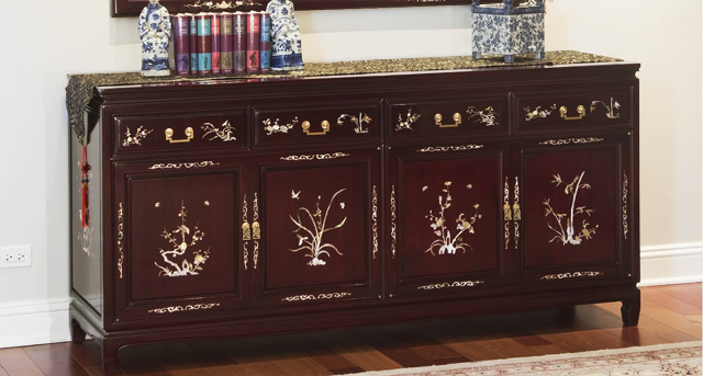 Traditional Chinese Rosewood Buffet Cabinet