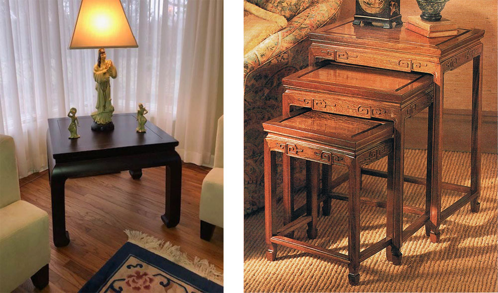 Oriental End Tables