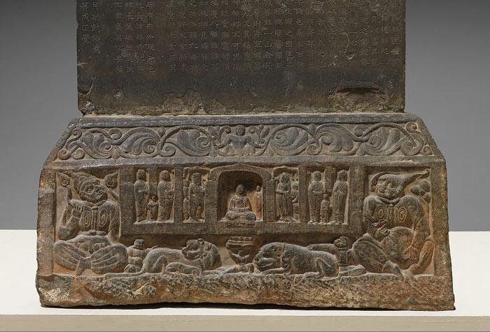 Visit of Manjushri to Vimalakirti Stela