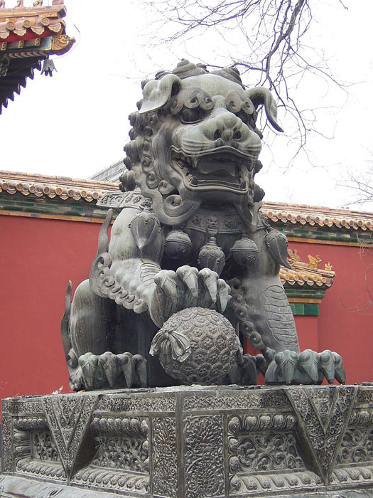 Yonghe Temple Foo Dog Statue