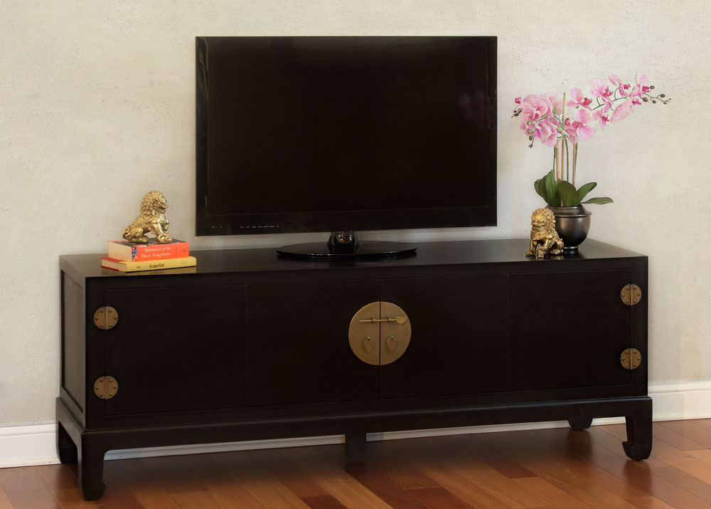 Black Grand Elmwood Kang Media Cabinet