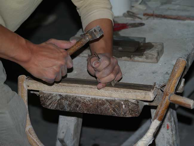 preparing mother of pearl inlays