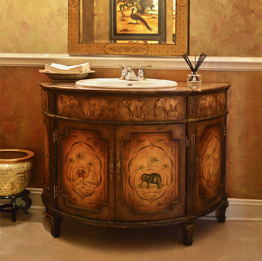 Asian Style Bathroom Furniture and Decor