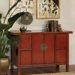 Asian Inspired Cabinets and Chests