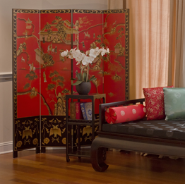 Asian Style Decorative Floor Screens and Room Dividers