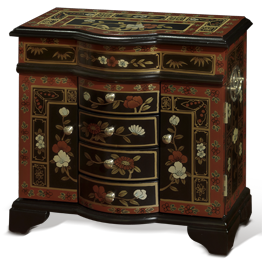 Asian Style Jewelry Boxes and Chests