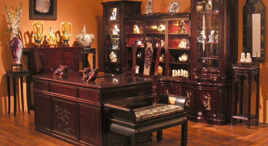 Office with Rosewood Furniture