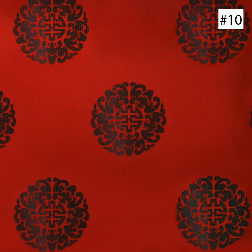Chinese Longevity Symbol Design 10 13 14 Ming Style Chair Cushion