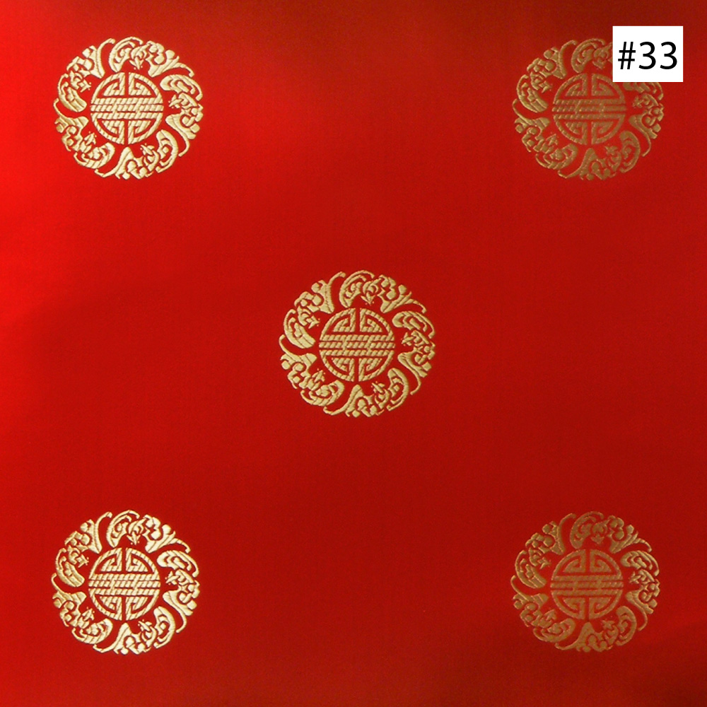 Chinese Longevity Symbol Design (#32, #33, #35) Corner Chair Cushion