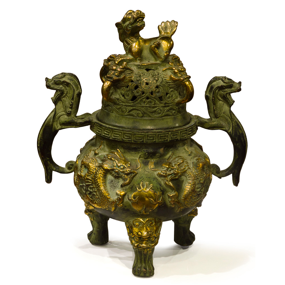 Bronze Imperial Kirin Incense Burner