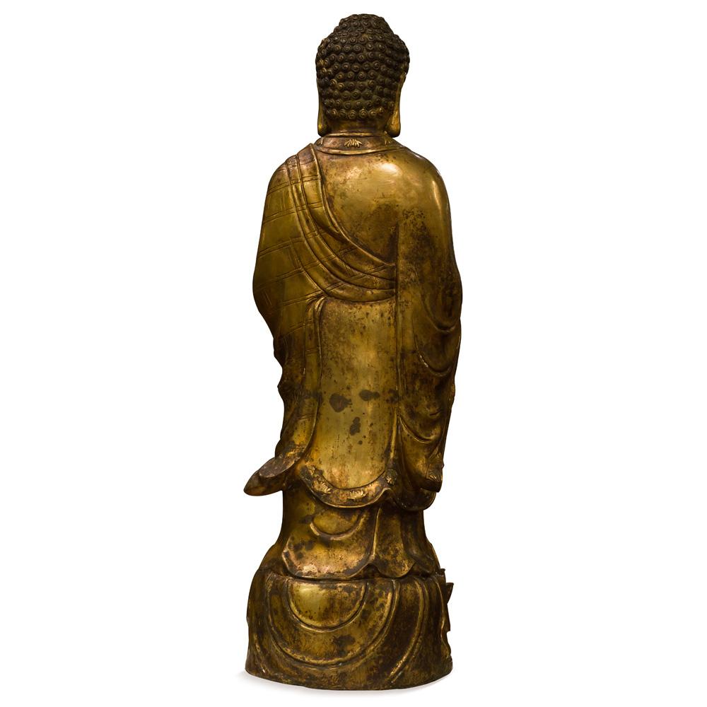 Bronze Standing Tibetan Buddha Statue