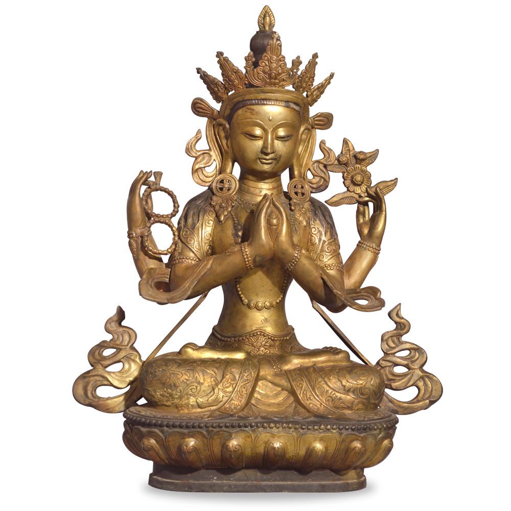 Bronze Tibetan statue