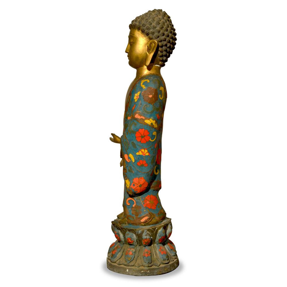 Bronze Tibetan Standing Buddha Statue