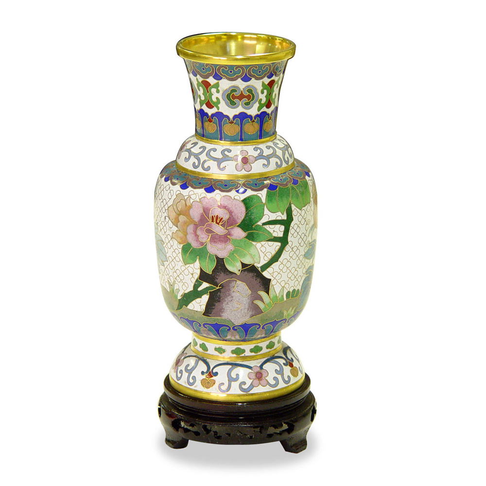 Hand Crafted 8in Cloisonne Vase