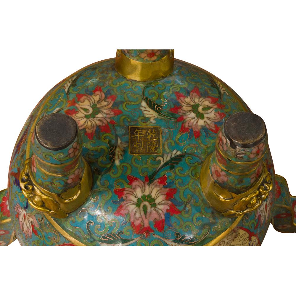 Vintage Chinese Temple Oriental Cloisonne Incense Burner