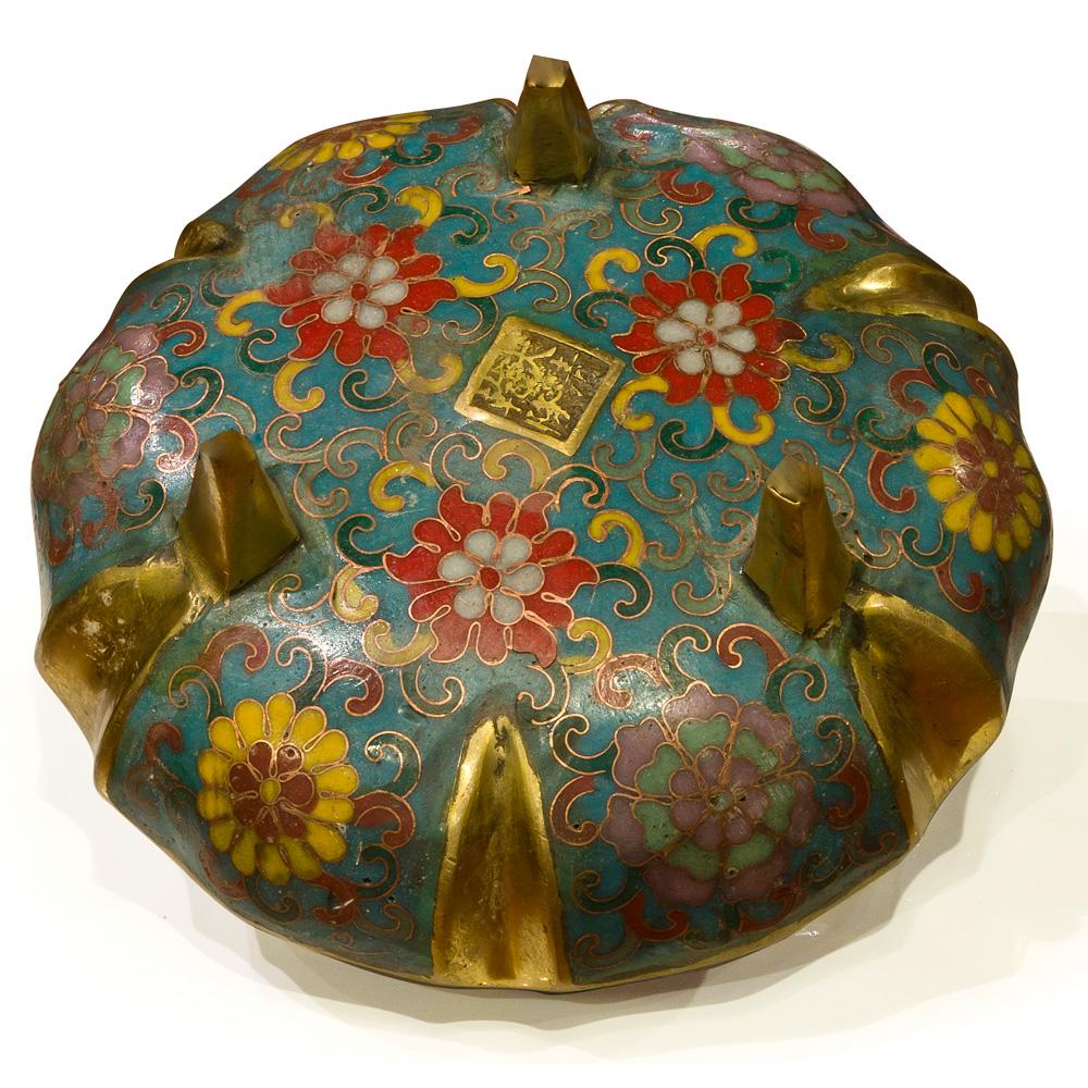Vintage Oriental Cloisonne Incense Burner
