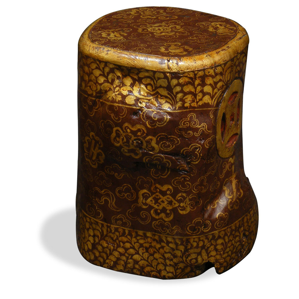 Tibetan Tree Trunk Stool