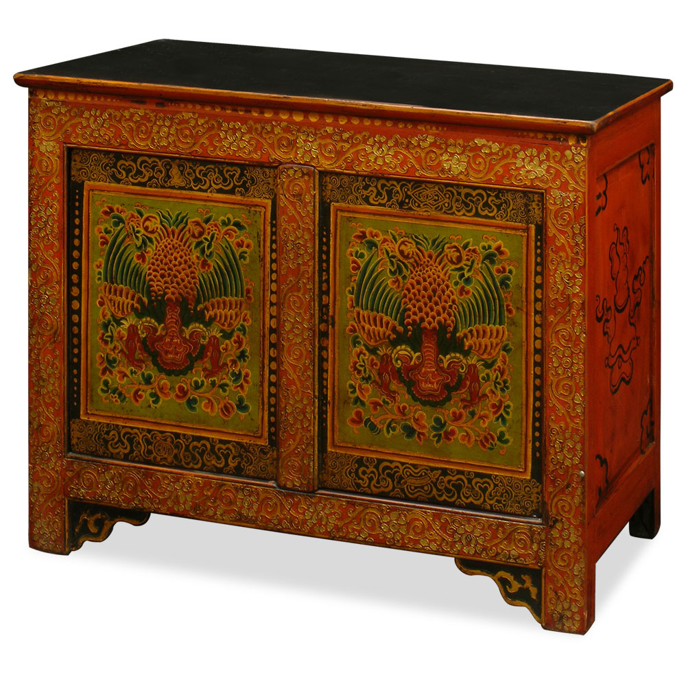 Hand painted tibetan chest for Hand painted chests