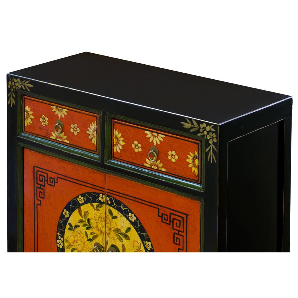 Elmwood Floral Mongolian Cabinet