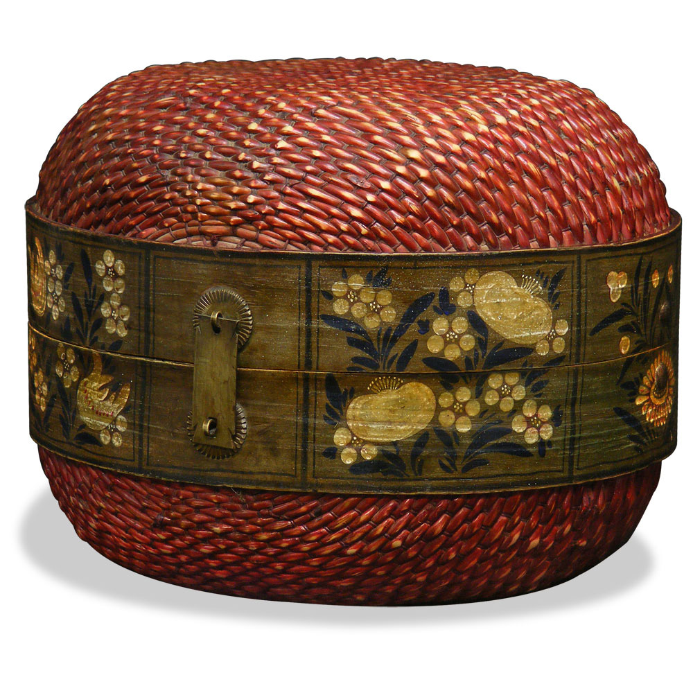 Antique Mongolian Willow Box