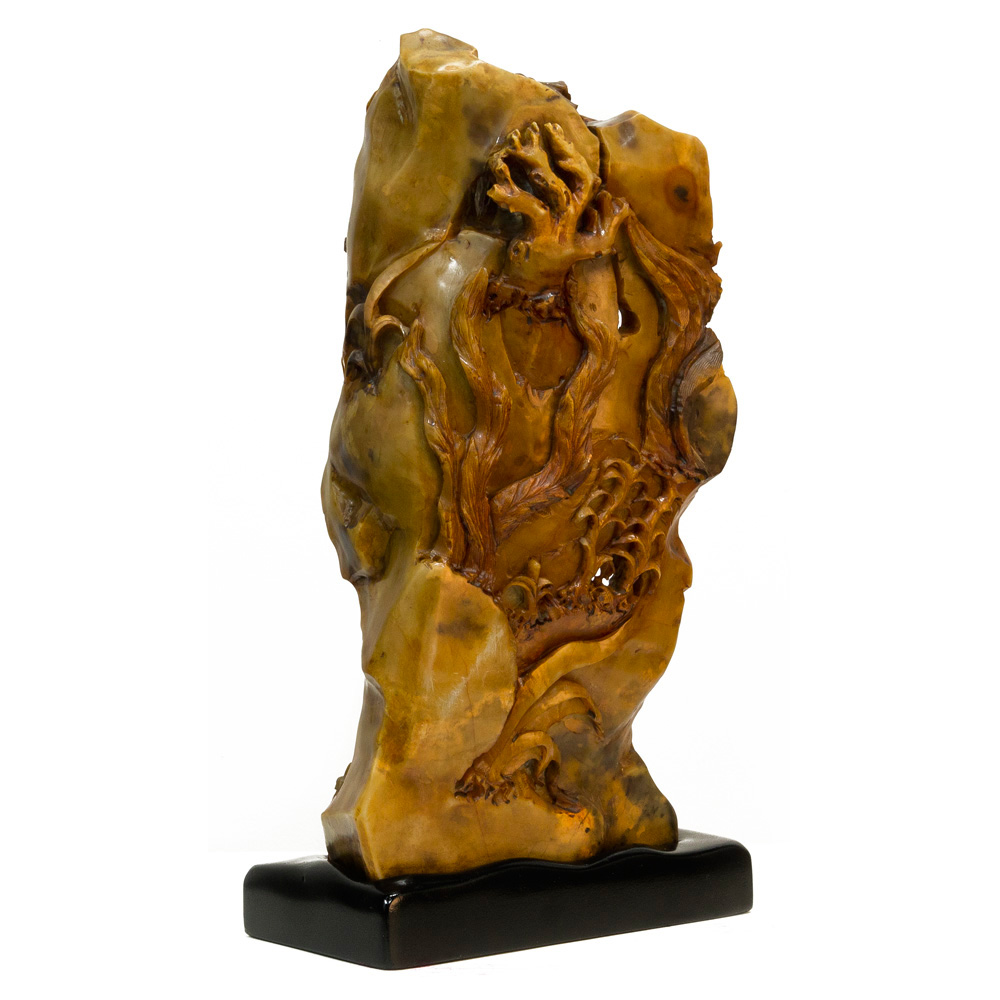 Hand Carved Monkey King Jade Carving