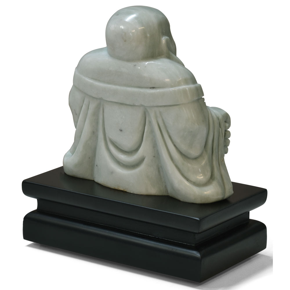 Hand Carved Jade Buddha with Stand