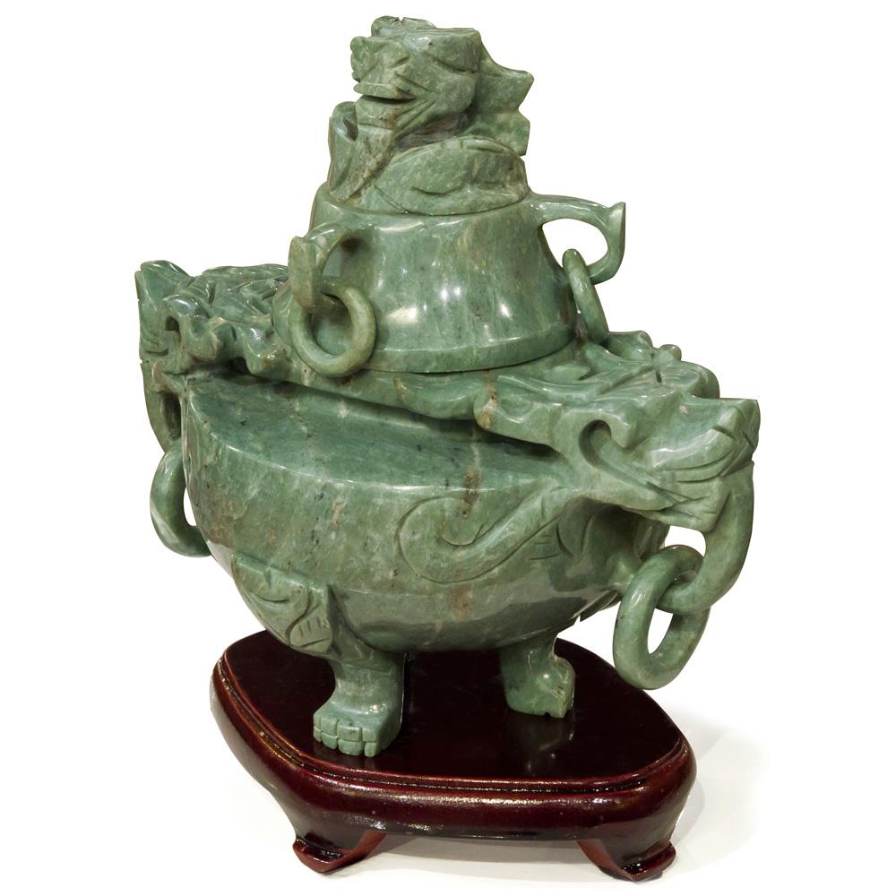 Chinese Jade Incense Burner Pot