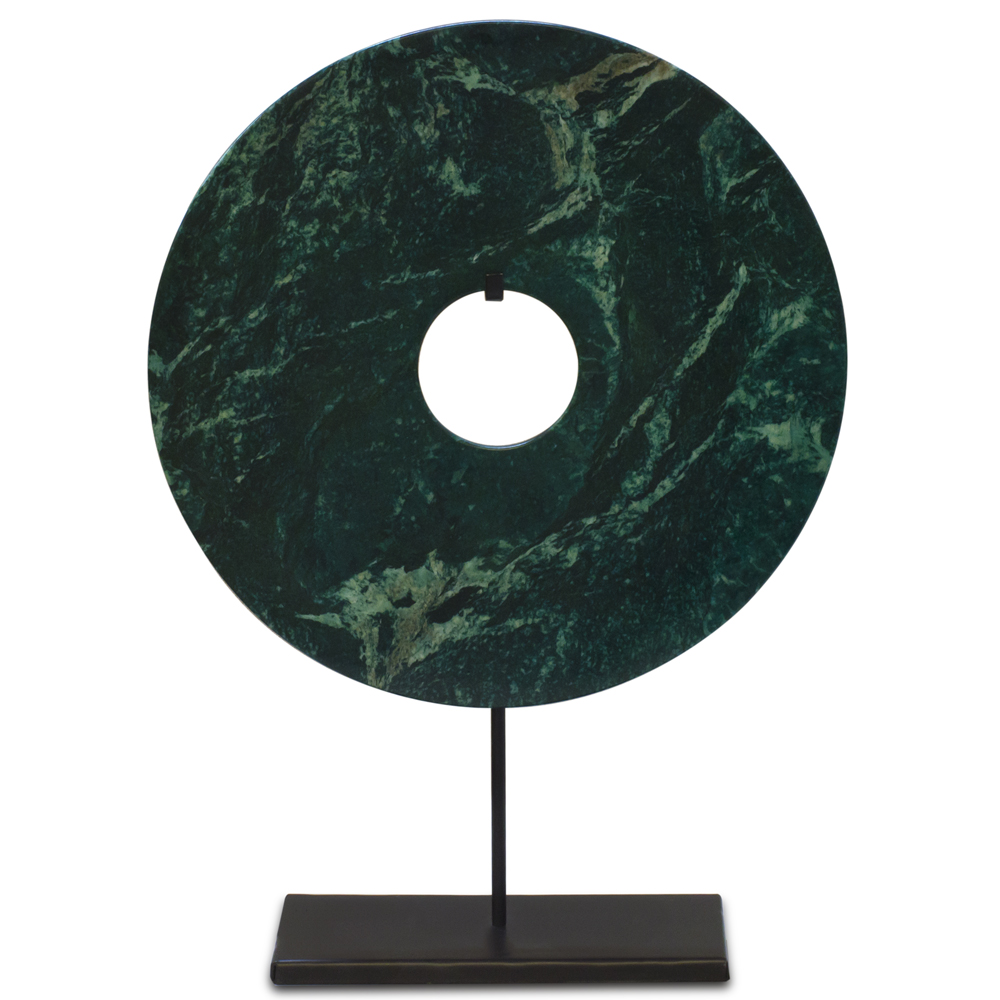 Jade Coin with Iron Stand