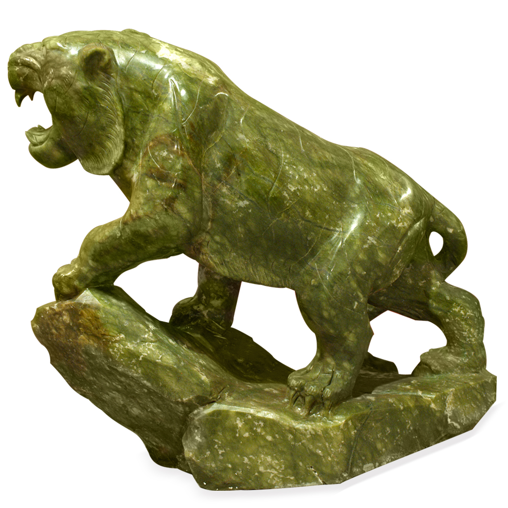 Hand Carved Jade Tiger