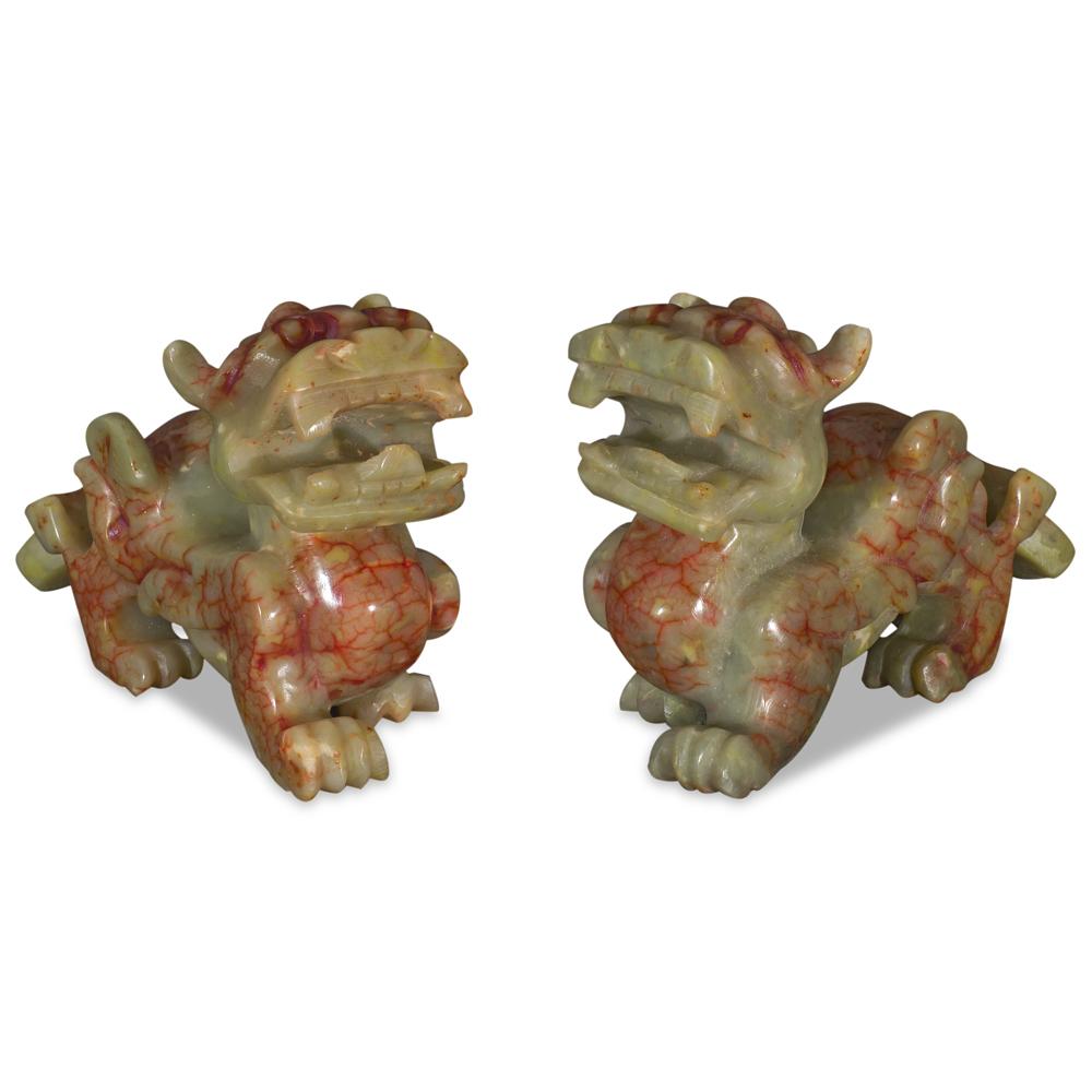 Chinese Jade Pixiu Set