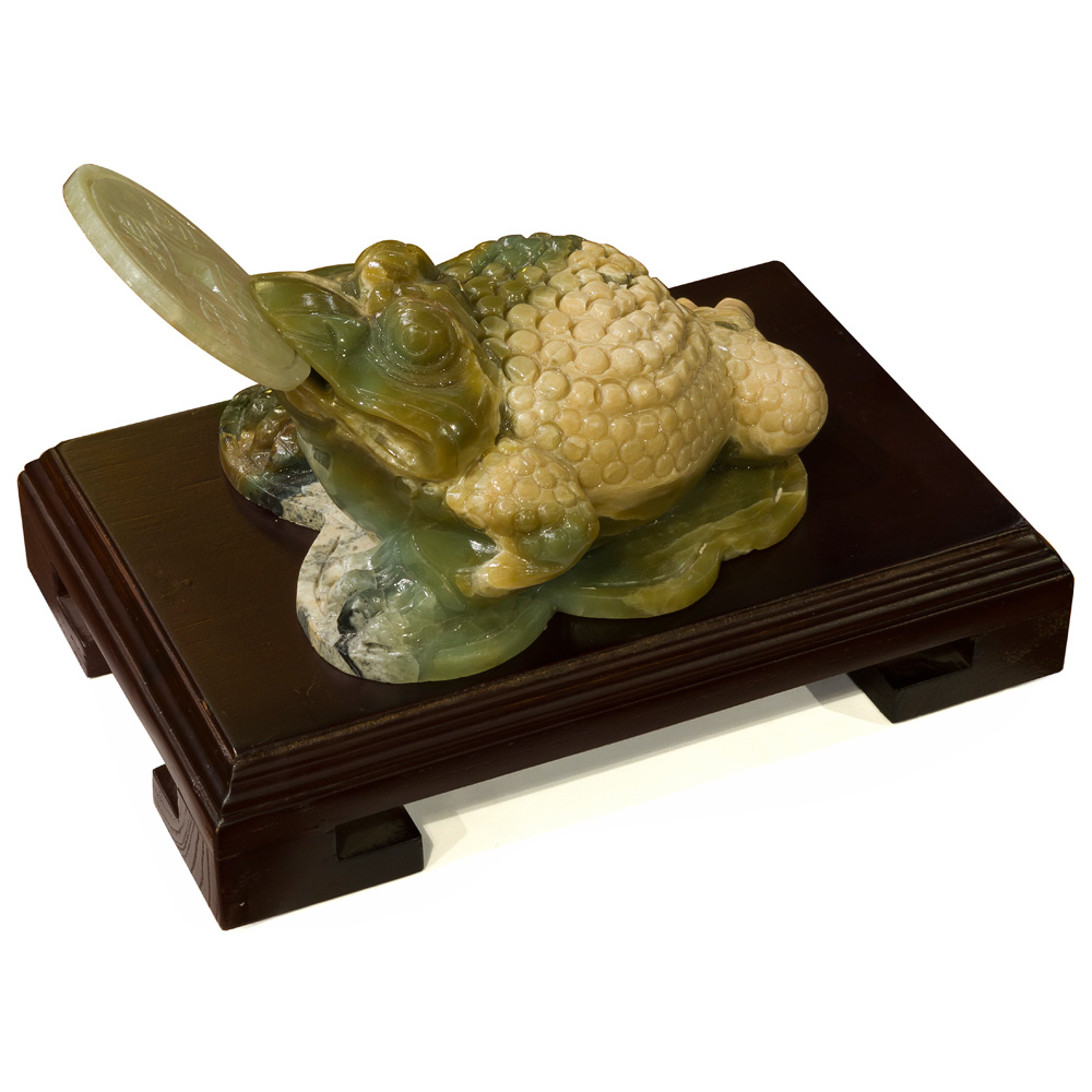 Hand Carved Jade Money Toad