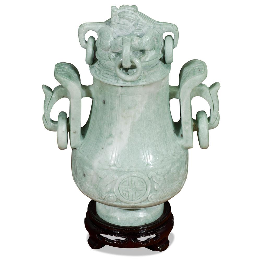 Hand Carved Jade Imperial Vase