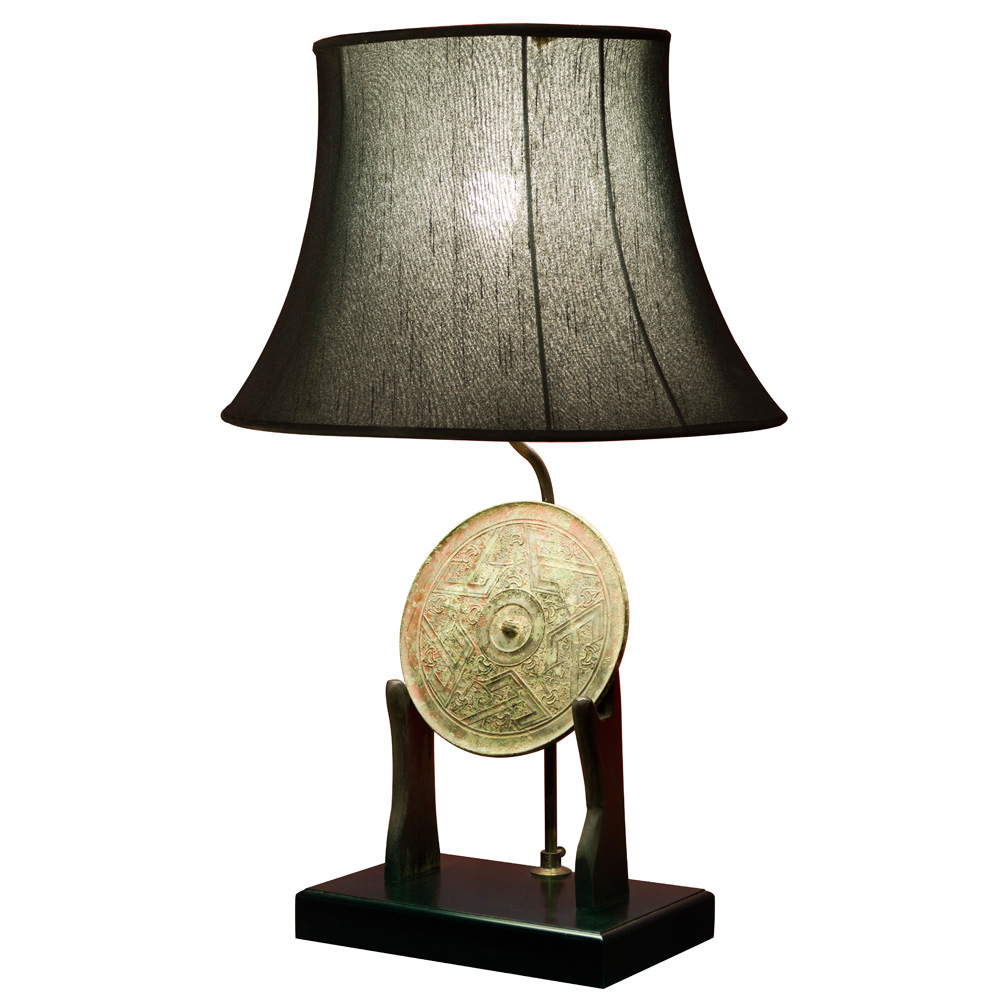 Patina Bronze Chinese Coin Table Lamp