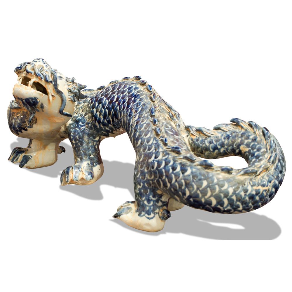 Blue & White Porcelain Double Dragon