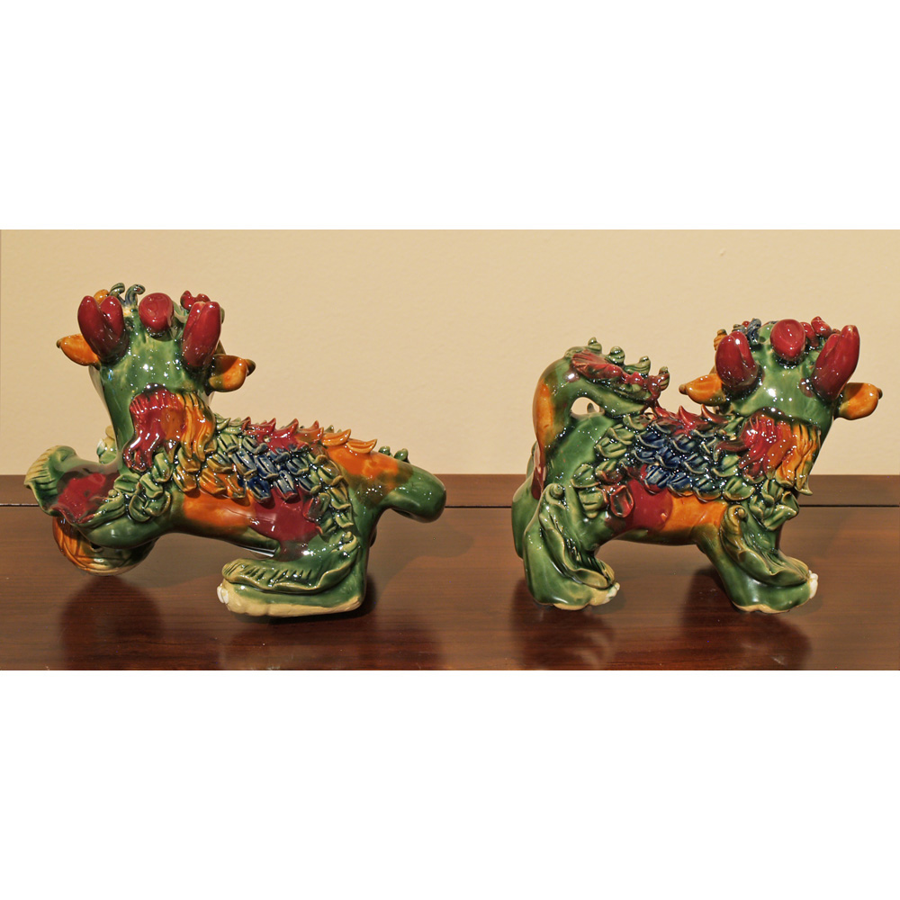 Colorful Porcelain Kirin Set
